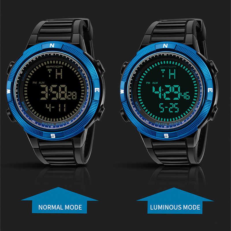 ad68bf4a894 ... SANDA Men Luxury Brand Sport Watches Waterproof Military Sports LED Digital  Watch Men Fashion Wrist Watch ...