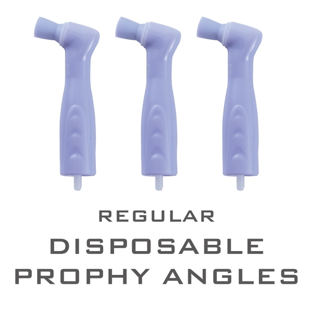 40 Pieces Dental Materials Disposable Polishing Cups Prophy Angles Latex Free Regular
