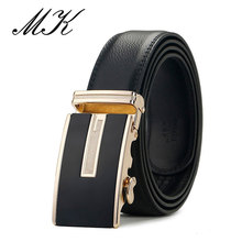 Luxury Brand Quality Leather Belts for Men Belt Golden Silvery Automatic Buckle Belt Adjustable Male Strap for Jeans цена 2017