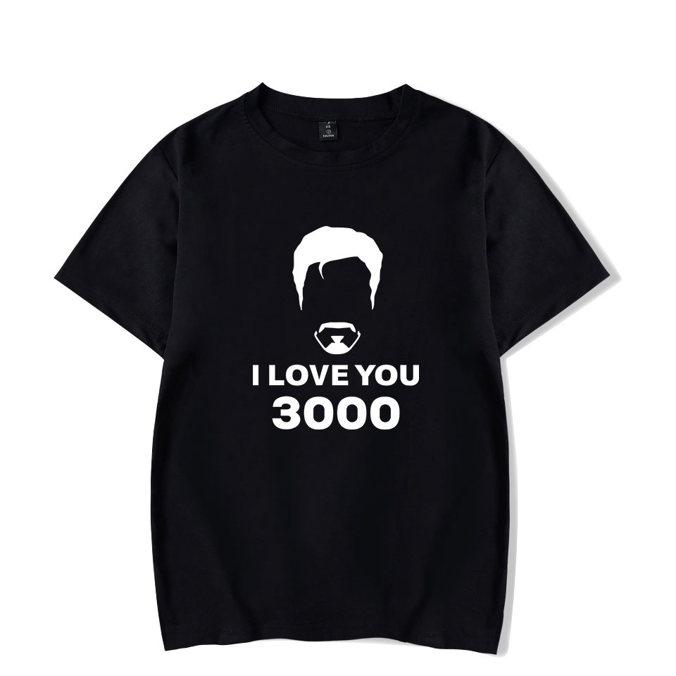 I Love You 3000 Times <font><b>T</b></font> <font><b>Shirt</b></font> Men <font><b>Women</b></font> Avengers Endgame Superhero Iron Man <font><b>Tony</b></font> <font><b>Stark</b></font> Cotton Short Sleeve Funny Tshirt Homme image