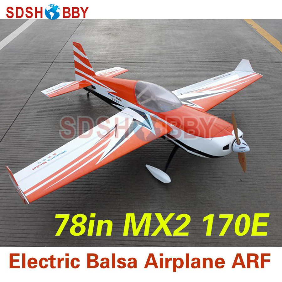 все цены на 78in MX2 170E RC Electric Balsa Airplane ARF with Carbon Fiber Landing Gear (Type A & D) Based on 61in MX2 70E V2/V2+ онлайн