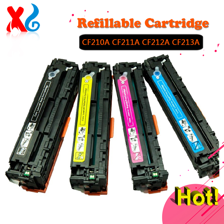 1Set CF211A CF212A CF213A Toner Cartridge for HP Laserjet LJ Pro 200 M251nw M276 Color M251n mfp M276n M276nw 131A CF210A Toner цена 2017
