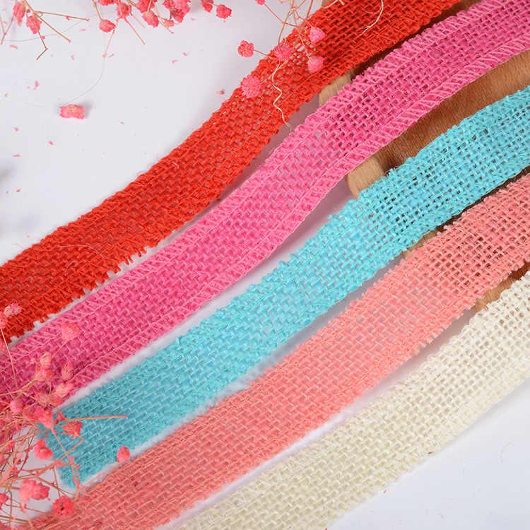 Suministros festivos y de fiesta, eventos y fiestas, decoraciones de fiesta y vacaciones, decoración de zapatos y sombreros con cinta de lino de 2,5 cm