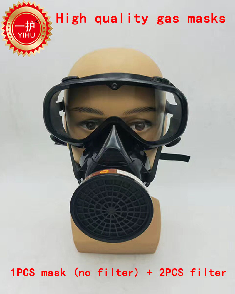 high quality respirator gas mask combination Brand gas mask spraying paint pesticide h2s carbon filter respirator mask high quality carbon filter mask silicone multifunction respirator gas mask paint spray pesticides industrial safety protect mask