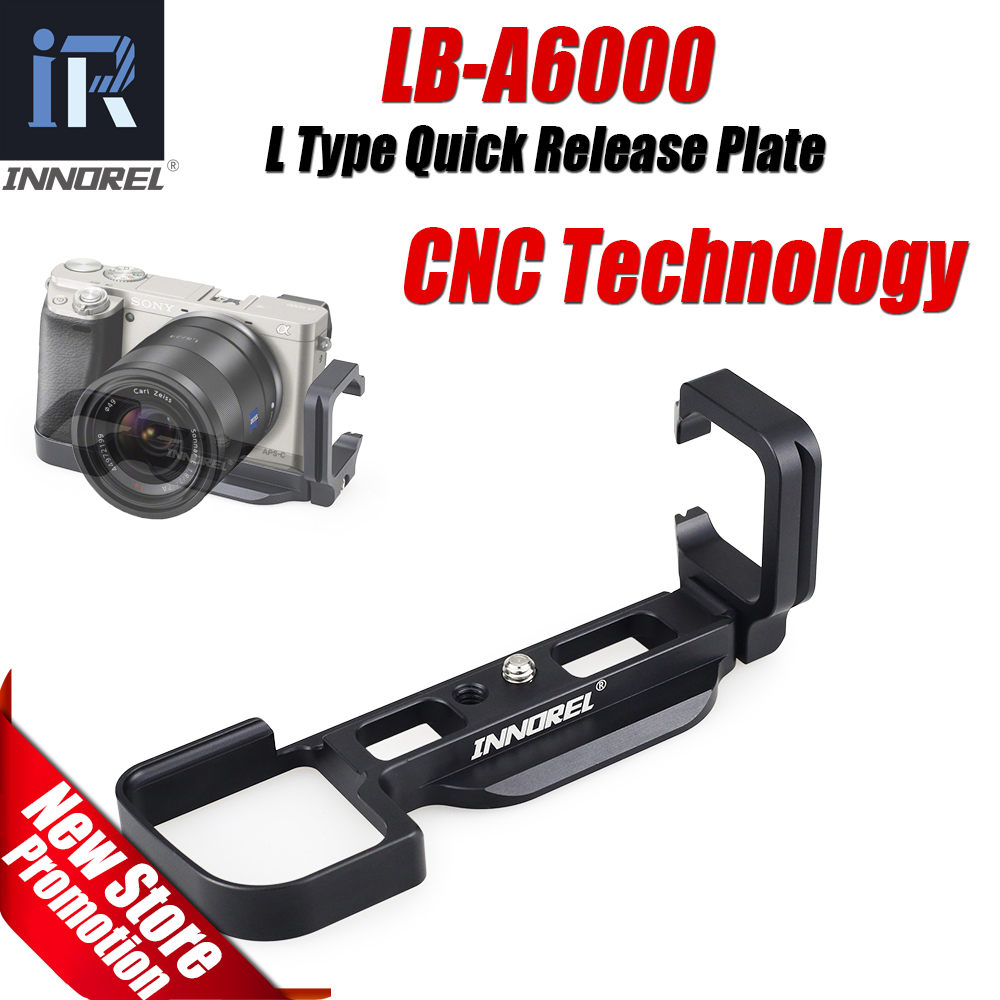 INNOREL Aluminum Alloy LB-A6000 L Type Quick Release Plate Vertical L Bracket Hand Grip The Exclusive Use of Sony A6000