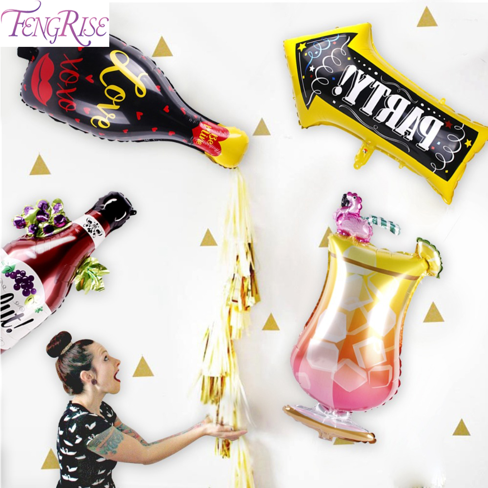 FENGRISE Wine Bottle Balloon 16 <font><b>18</b></font> 20 21 30 <font><b>Birthday</b></font> Party 16th 18th 20th 21st 30th 40th <font><b>Birthday</b></font> <font><b>Decor</b></font> Wedding And Party Event image