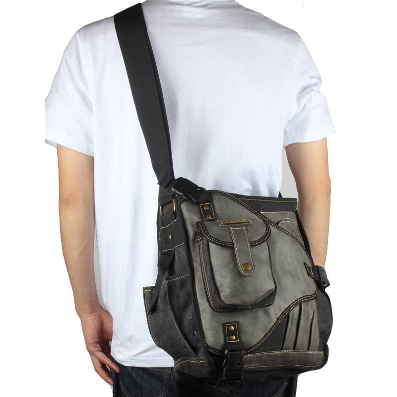 Men's Sling Bag Shoulder Bag Messenger Daypack Outdoor Pack Men's ...