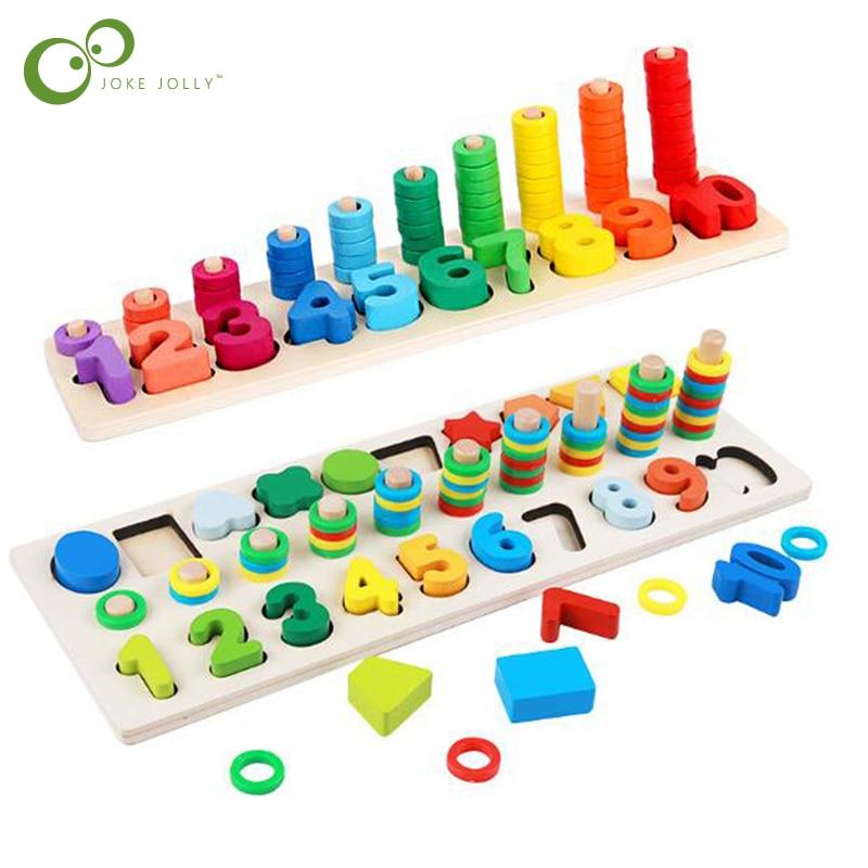 Montessori Math Toys Digital Shape Pairing Learning ...
