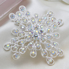 Cheap Fashion Exquisite Silver Flower Rhinestone Women Wedding Brooches Pins/men jewelry
