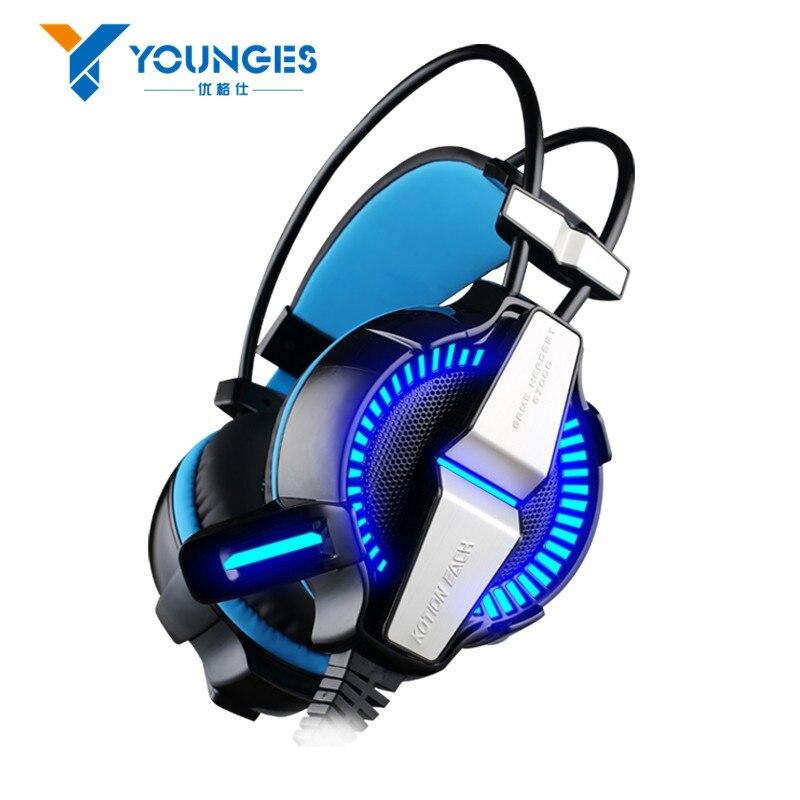 ФОТО New GPQW21 Headset Headset Microphone LED Light 7.1 Virtual Surround Sound Vibration Competitive Edition Game Computer Headset