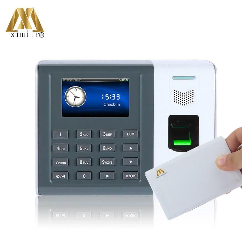 High Quality XM100 Biometric Fingerprint Time Clock TCP/IP Communication 13.56MHz MF Card Fingerprint Time Attendance