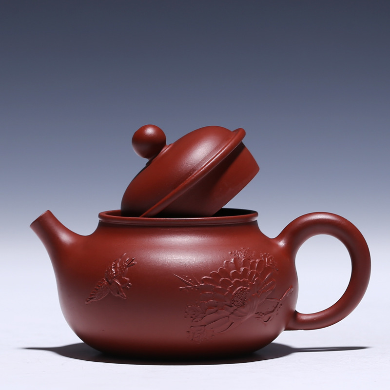 recommended masters all hand undressed ore mud zhu dahongpao pot of kung fu tea set gift custom mud painting for days - 3