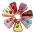 5pcs/lot Fashionable Lovely Durable Household Decoration Sandwich Shape Cake Ornament Towel Present Free Shipping