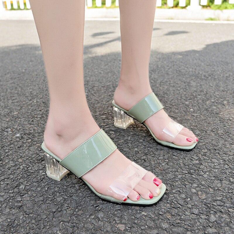 Tacones Mujer Cuadrado Uzvpms Claro Casco Sandalias Zapatos fYb76gy