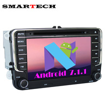 SMARTECH Autoradio VW 2 Din Android 7.1.1 Car DVD Player For Volkswagen POLO PASSAT B6 EOS Golf Bora CanBus Wifi GPS Radio RDS