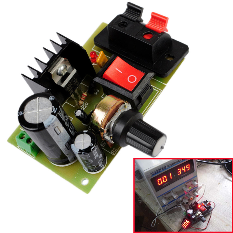 Step Down Ac//Dc Dc 5V-35V To 1.25V-30V Power Supply Module LM317 Ic New ii