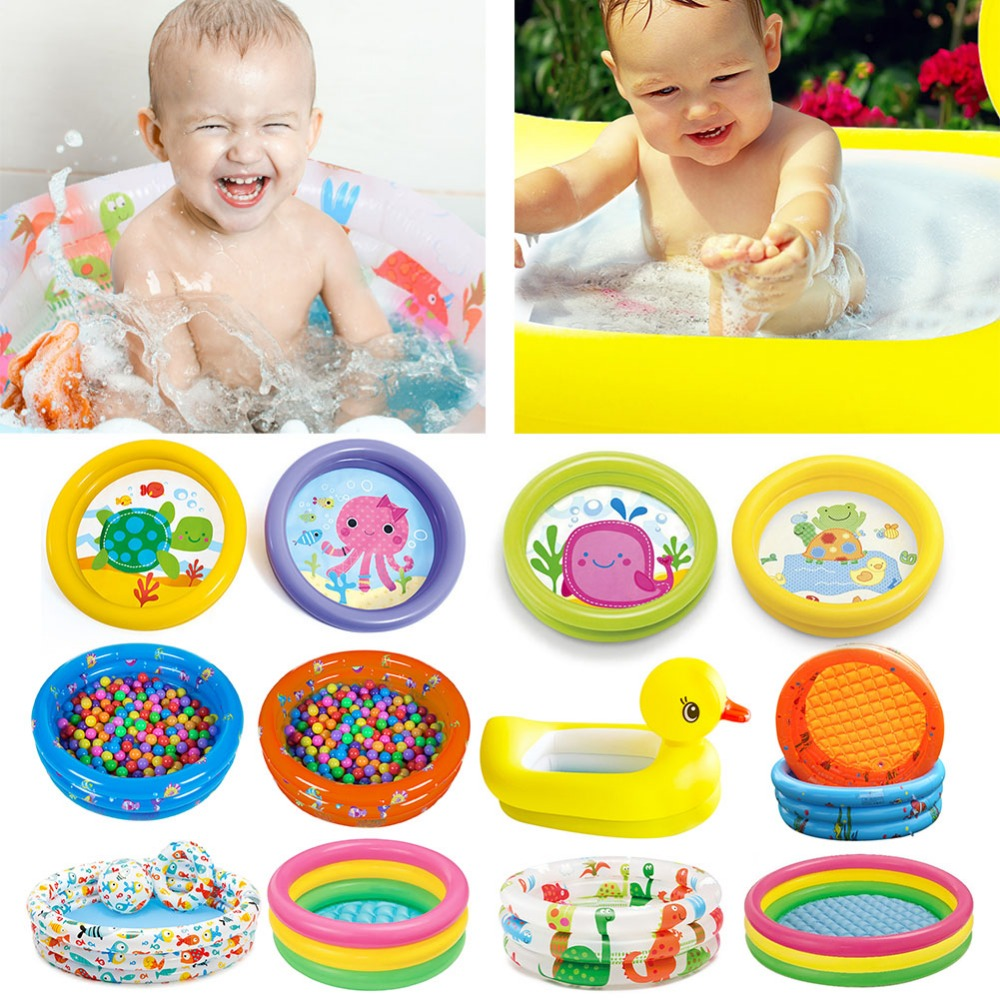 Summer Baby Inflatable Swimming Pool Children Round Basin Bathtub Portable Kids Outdoors Sport Play Toys Garden Paddling  Pool