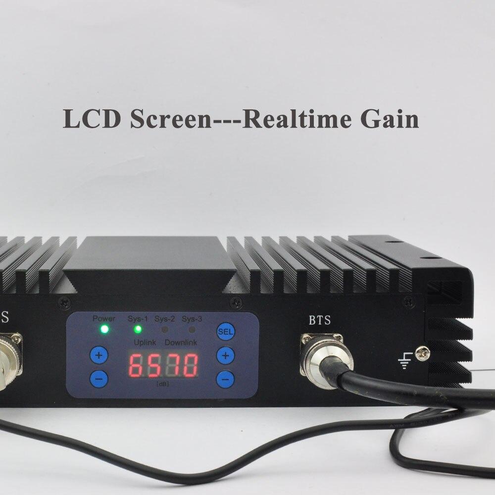 75db AGC MGC LCD 4G LTE 1800 MHz + 3G 2100 MHz double bande amplificateurs de Signal puissants 1800 + 2100 MHz téléphones portables répéteur de Signal Mobile # - 6