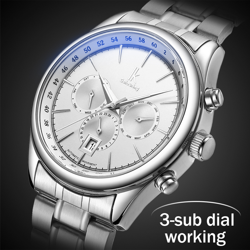 2018 Mens Watches Top Brand Luxury Automatic Mechanical Watch Men Full Steel Business Waterproof Sport Watches Relogio Masculino
