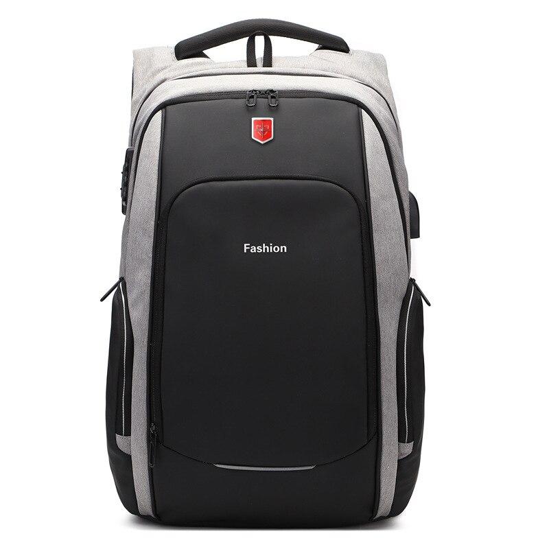 Nouveau Anti voleur mode hommes sac à dos multifonctionnel étanche 15.6 pouces pochette d'ordinateur homme USB charge voyage sacs à dos Mochila-in Sacs à dos from Baggages et sacs    2