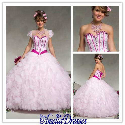 AQ 089 Puffy princess ball gown wedding dress sweetheart neckline ...