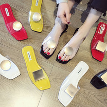 2019 Transparent Women Slippers Woman shoes Summer Beach Flip Flops Ladies Fashion Slippers Home Female Lady Shoes For Women цена