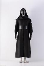 Star Wars 7 Kylo Ren cosplay costumes 6 PCS one set Uniform Black Cloak Coat  + Mask Halloween Cosplay Costumes For Men Women