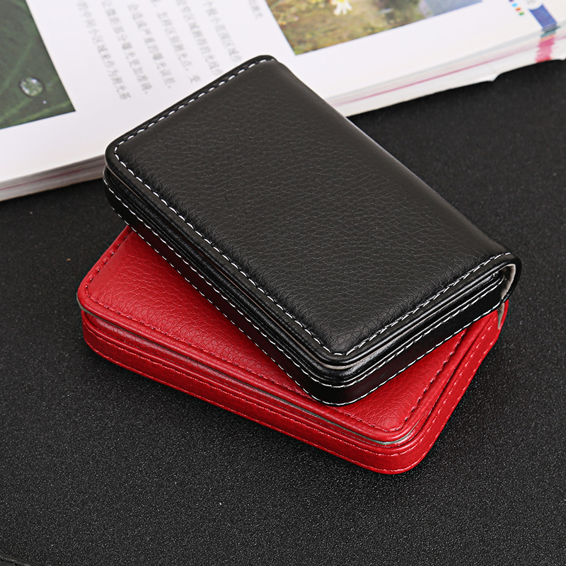 QOONG 2019 New Fashion Men 39 s PU Leather ID Credit Card Holder Solid Mini ID Card Holder High Quality Small Card Holder KH1 024 in Card amp ID Holders from Luggage amp Bags
