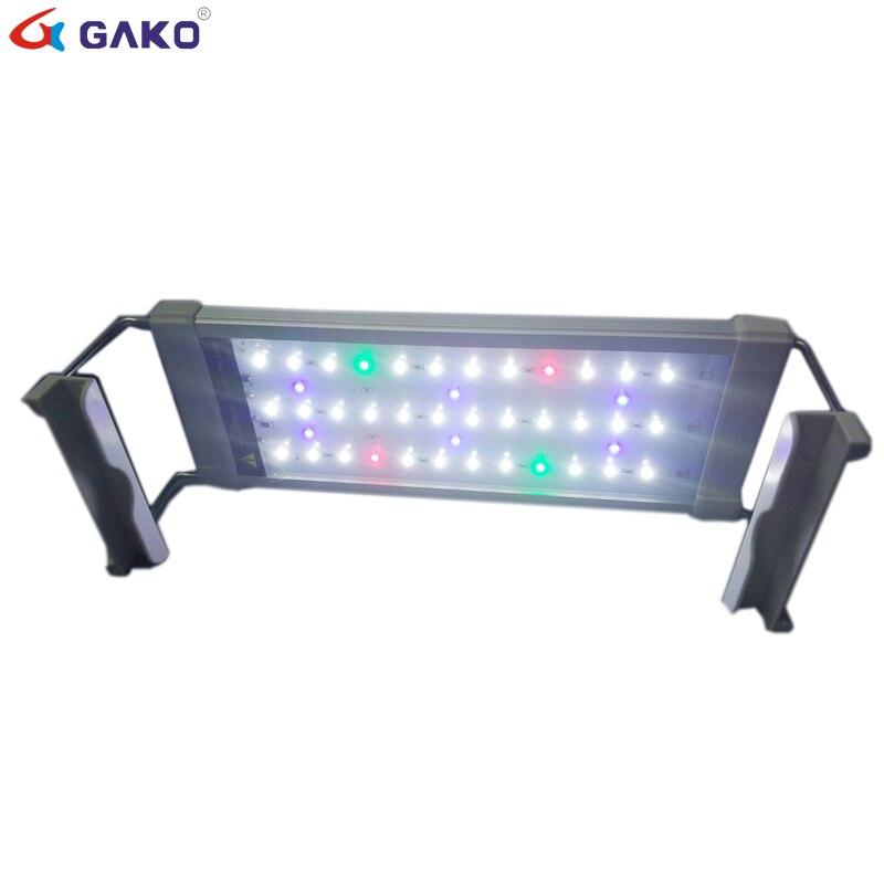 30-50 cm LED acuario luz Fish Tank lámpara de luz con soportes extensibles luz colorida para el acuario llevó la iluminación