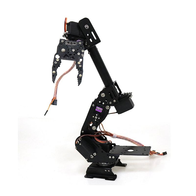 DoArm S8 8DoF brazo Robot de Metal de aleación de aluminio/mano manipulador robótico ABB brazo modelo Garra Para Arduino WiFi kit Válvula de cierre de Manipulador automático de DC8V-DC16V para alarma, dispositivo de seguridad para tuberías de Gas y agua para cocina y baño