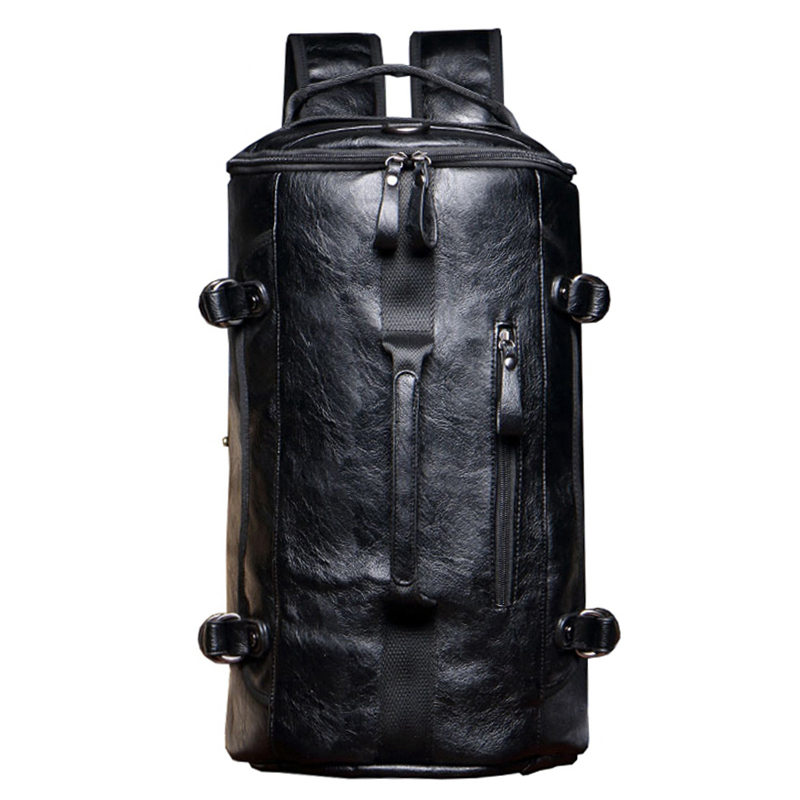 Travel Bags Anti Theft Backpack Men Leather Laptop Backpacks Multifunction Rusksack Male School Bag Mochila Bolsos