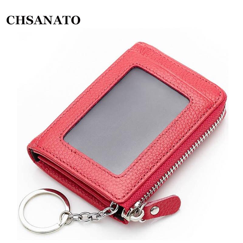 CHSANATO spring genuine leather small coin case coin purse cowhide mini small bag keys bag