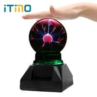 ITimo Novelty Lighting Sphere Light Magic Crystal Plasma Ball Electrostatic induction Night Lamp Creative Birthday Gift for Kids