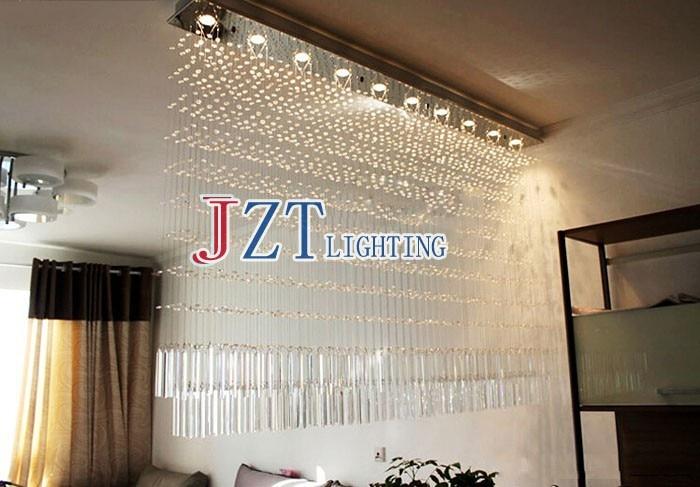 Curtains Ideas curtain lights for bedroom : Luxury K9 Crystal Chandelier Rectangular Cut Crystal Lamp LED Bead ...