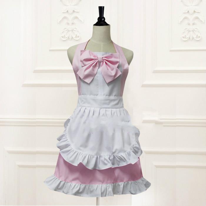 Prinses sweetlolita schort Zuid-korea/Japanse stijl zoete Waltz modieuze Palace maid schort met boog en kant WQ07