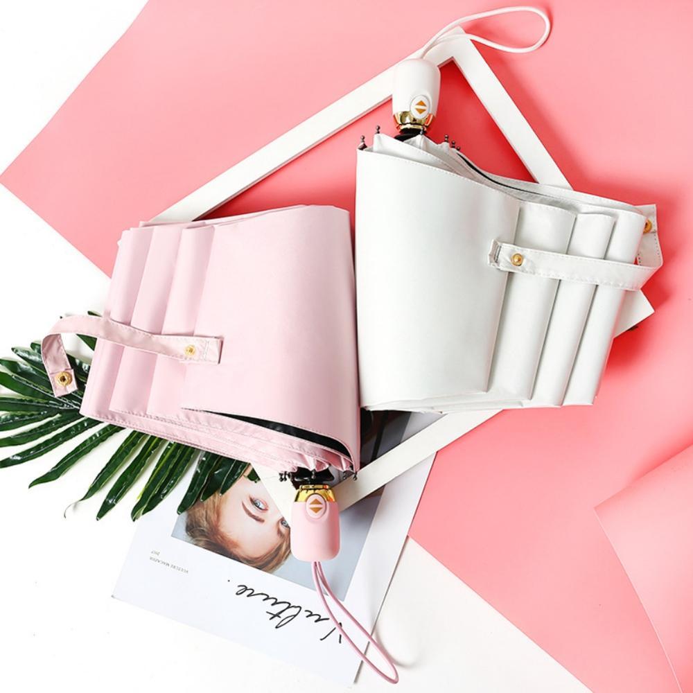 Lightweight Travel Three-Folding Umbrella Windproof Automatic Umbrellas Sun & Rain UV Protection Parasol Umbrellas