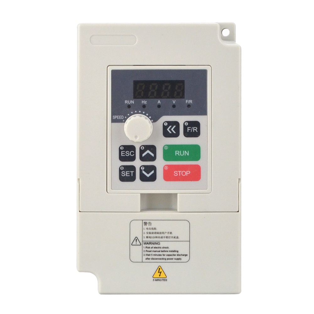 2.2KW VFD 3HP 5A 380V 3 Phase Variable Frequency Drive Motor Inverter for Spindle Motor Speed Control Frequency Converter2.2KW VFD 3HP 5A 380V 3 Phase Variable Frequency Drive Motor Inverter for Spindle Motor Speed Control Frequency Converter