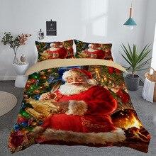 3D Printed Merry Christmas Bedding Set UK/US/AU/EU SIZE