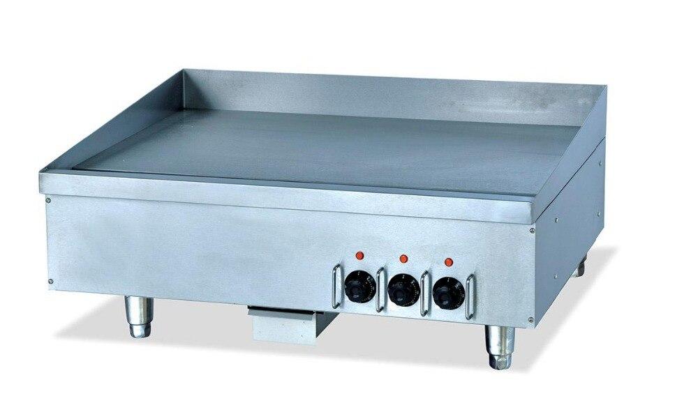 Super Quality Stainless Steel Restaurant Hotel Desktop Flat Eletric Griddle Frying Food Catering Equipment 220v Supplier