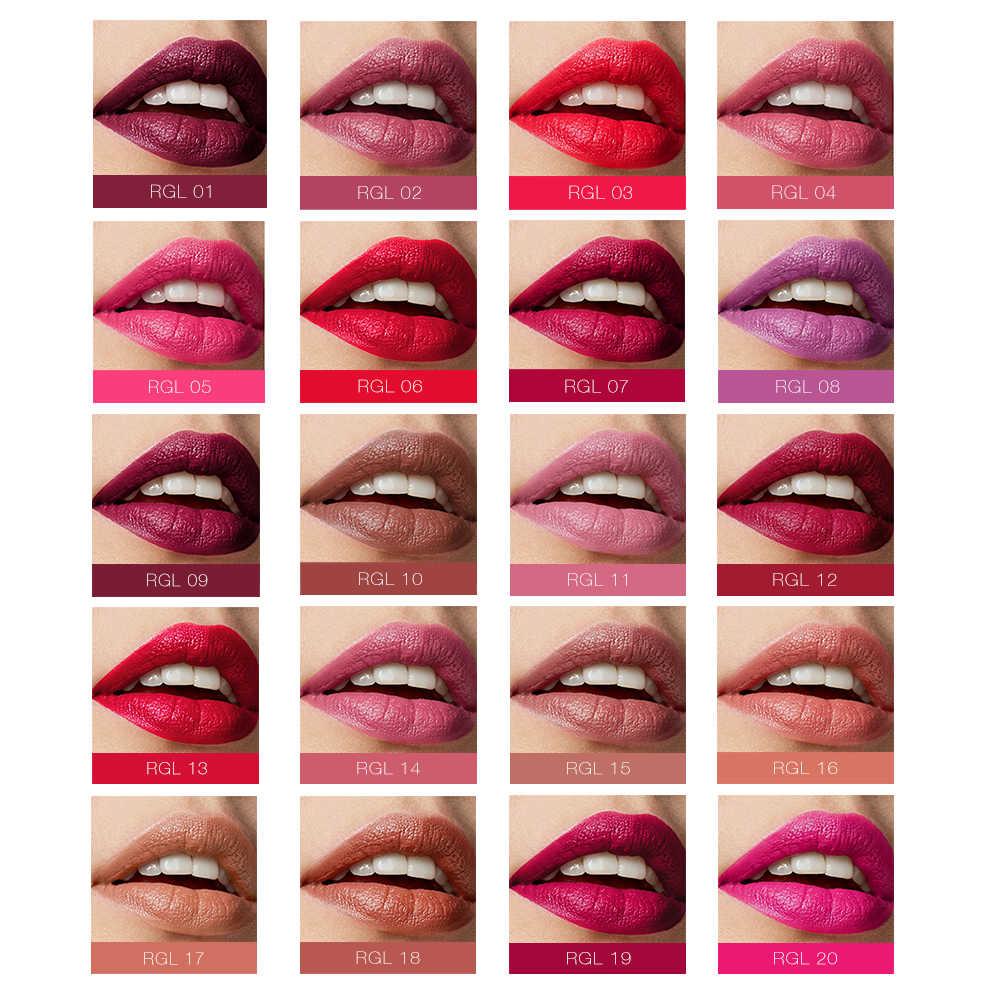 O. שני. O מותג איפור שפתון מט ארגונית פופולרי 20 צבעים לאורך זמן עמיד למים עירום שפתון מט שפתיים קוסמטיקה
