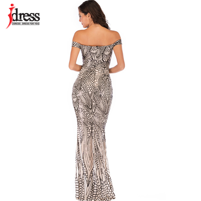 HTB1RIWXbynrK1Rjy1Xcq6yeDVXak - IDress Sexy Sequined Long Summer Dress Elegant Off Shoulder Evening Party Dresses Women Long Dress Sexy Bodycon Maxi Dress
