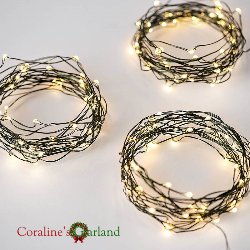 Green Copper Wire Battery Operated 16FT 5M 50 LED Fairy Lights String Holiday Wedding Party Decoration Outdoor Garland Lights