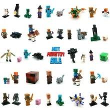 Minecraft LegoINGly Action Figures Blocks Diamond Steve Armor Alex Compatible LegoINGly Buildings Bricks Mini Toys For Children