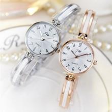 Новинка 2017 года JW Элитный бренд кварцевые Для женщин Часы бриллиантовый браслет женская одежда золотые наручные часы часов женский часы Relogio feminino