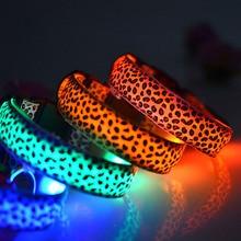 Leopard Print LED Dog/Cat Collar