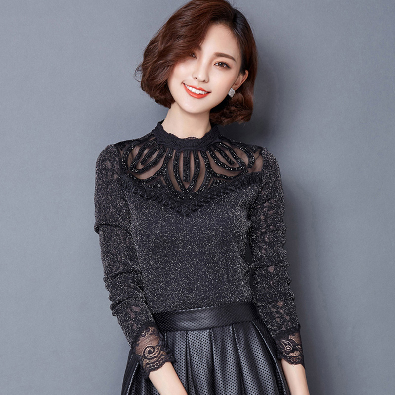 2016 new design women\'s tops black office lady working shirts red ...