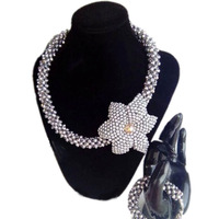 Jewelry Set Silver Handmade Flower Costume Jewellery African Necklace Set Free Shipping Dubai Jewelry Sets For Women 2018 new