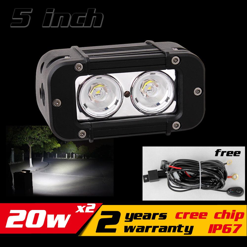 2X 20W LED Work Light Bar for ATV Motocycle 12v 24v LED Bar Offroad 4X4 LED Work Light Fog Light Seckill 18w 27w лампа автомобильная avs atlas anti fog h27 881 12v 27w
