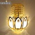 Oro de Cristal Apliques de Pared led Lámparas para el Dormitorio de la Sala De Noche Baño Armario Luz De La Noche de Lujo Moderno de Pared de Luz