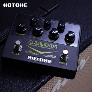 Image 5 - Hotone A Station Acoustic Preamp DI Box Guitar & Microphone Guitar Effects Pedal 9V Adapter Included AD20
